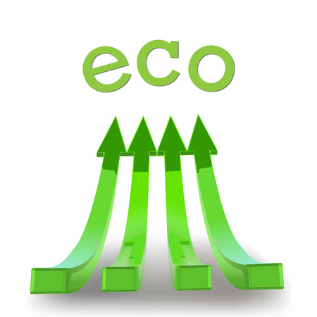 green arrow and eco photo