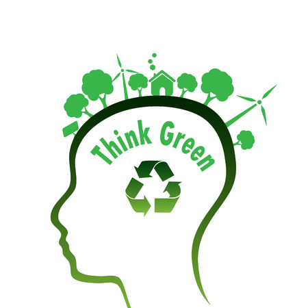 head and think green photo