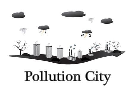 pollution city  photo