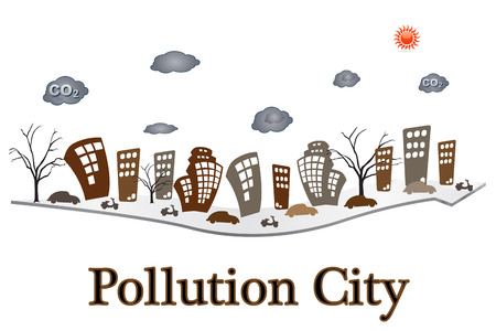 pollution city on the arrow photo