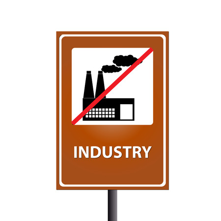 industry on traffic sign photo