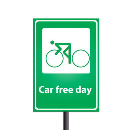car free day on traffic sign photo