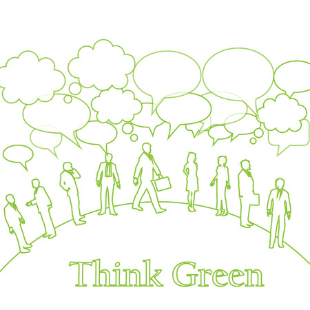 think green: muchas personas con think green