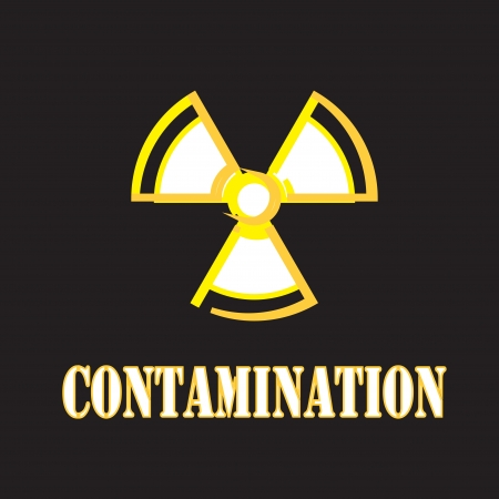 radioisotope: nuclear sign with contaminate Stock Photo