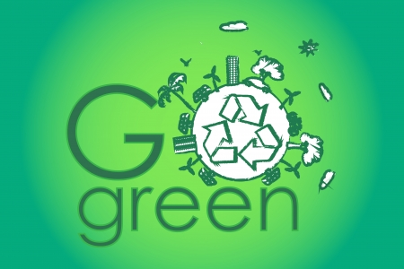 go green with green earth  photo