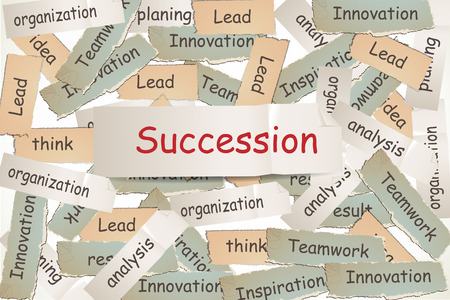 leadership key: succession on the paper Stock Photo