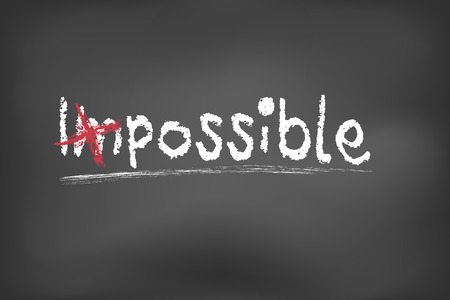 possible: Changing impossible into possible on a chalkboard