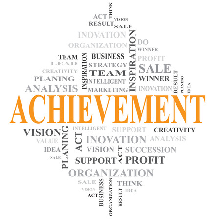 Acheievement and related word photo
