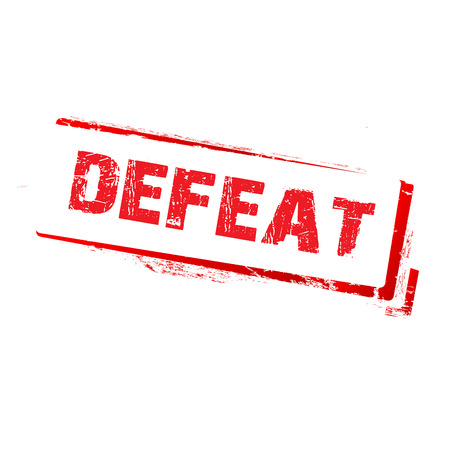 unaccepted: defeat stamp on white background Stock Photo