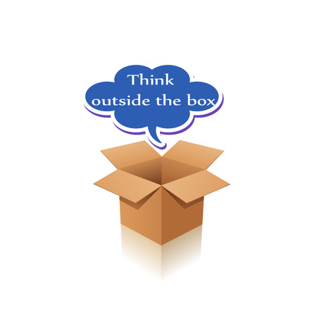 outside box: think outside the box Stock Photo