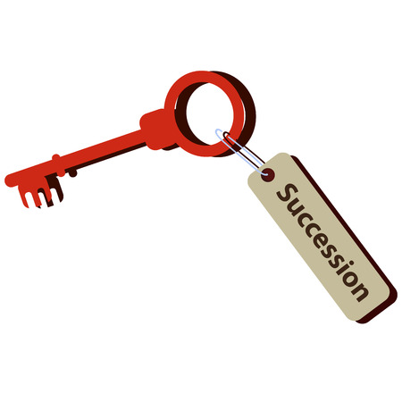 The key for succession in your life Stock Photo
