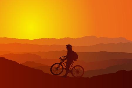 mountain biking: Mountain Biking up a trail in the mountains