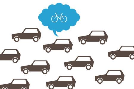 trafic: Trafic jam and bike concept