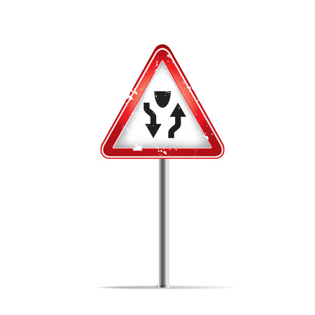 trafic stop: The traffic signs on the white background