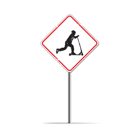 trafic: The trafic sign of playing child