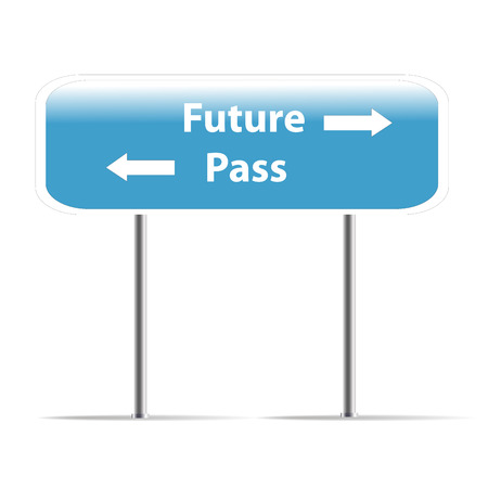 trafic: The future and pass trafic sign Stock Photo