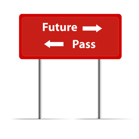 trafic: Trafic sign of pass and future Stock Photo