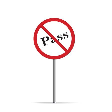 no pase: No Pase en señal de tráfico Foto de archivo
