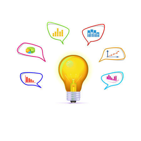 suggestions: The light bulb with business ideas