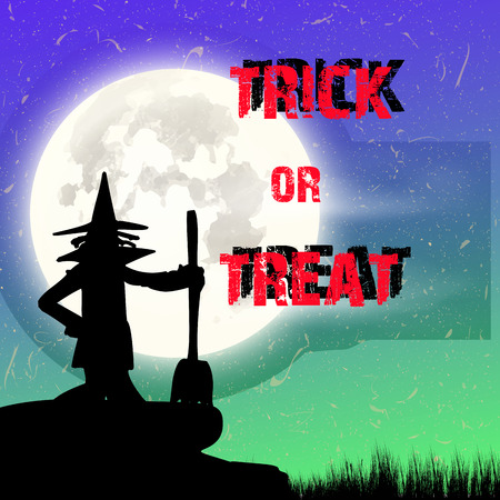 Halloween Witch Background photo