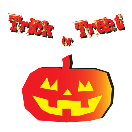 Trick or treat in halloween photo