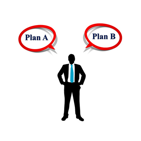 The difficult choices and challenges when selecting the right strategic path to take on a corporate decision Stock Photo