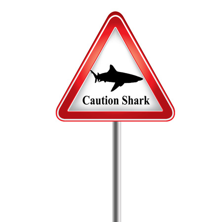 warned: Caution the shark