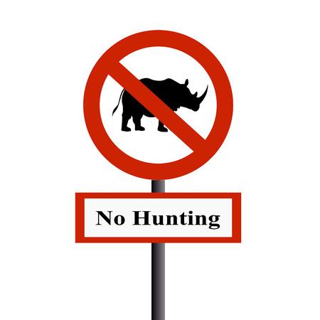 rudeness: No hunting the rhinoceros Stock Photo