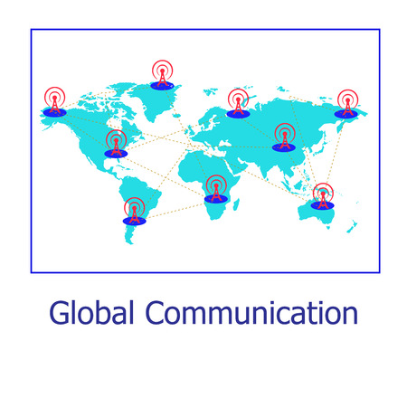 e recruitment: Communication Stock Photo