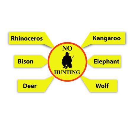 No hunting the wildlife animals sign photo