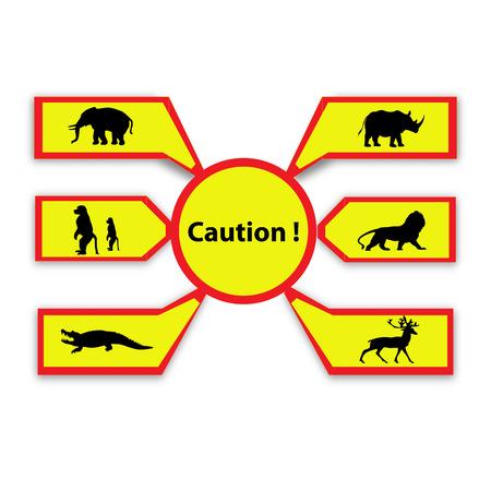 Cuation wildlife animals sign photo