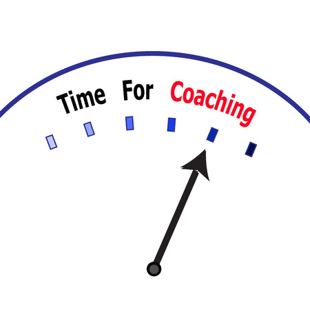 intern: Time for coaching Stock Photo