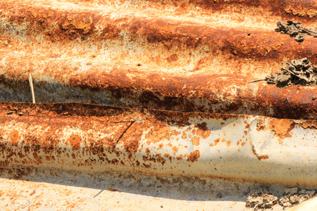 corrugated: Rusty corrugated metal