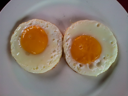 Two fired egg