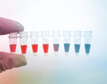Small test tube in laboratory Stock Photo