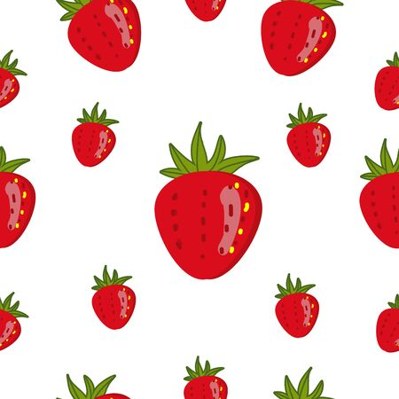 The big red strawberry on the white background