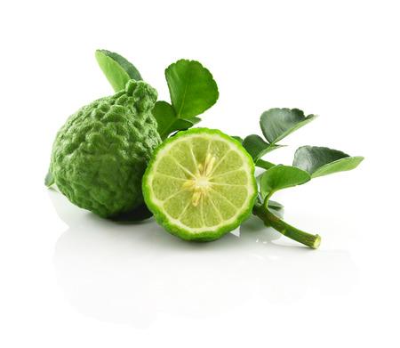 thai fruit: Bergamot isolated white background.