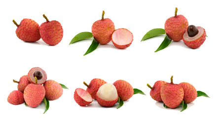 lychee: collection of 6 lychee images