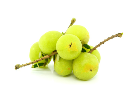 gooseberries on white background