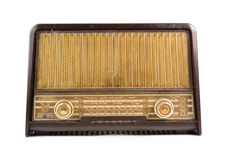 shortwave: Old radio on a white background