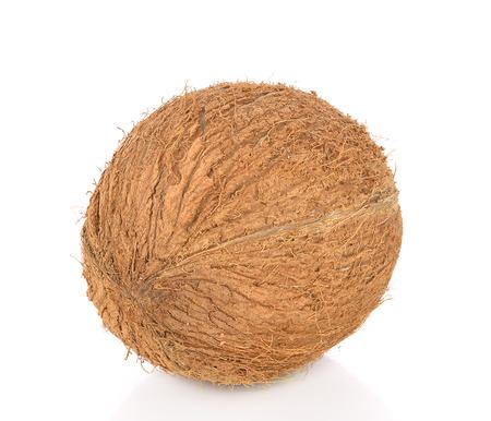 cocotier: coco close up isol� sur fond blanc