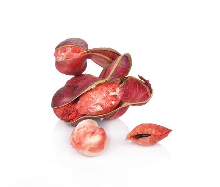 manila: Manila tamarind fruit isolated on white background