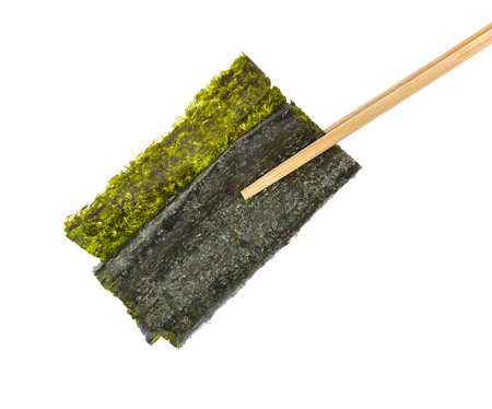 일본 음식 노리 마른 해초 또는 식용 해초 스톡 콘텐츠