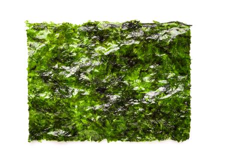 Dry seaweed on white background. 스톡 콘텐츠