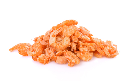 Dried shrimp isolated on a white