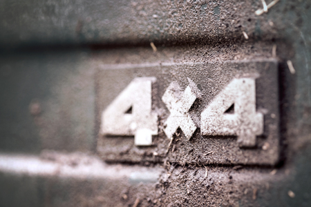 4x4: 4x4 offroad label Stock Photo
