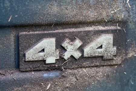 4x4 offroad label Foto de archivo
