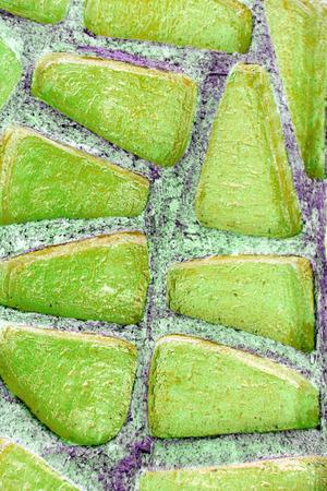 mosaic floor: Green mosaic on the floor