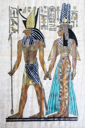 ancient civilization: Egyptian gods images Stock Photo
