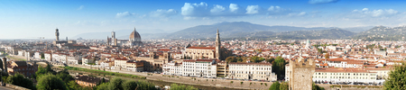 Panoramic view of the Florence, Italy, Toscana Stock Photo